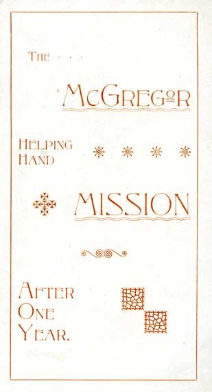 McGregor Mission brochure, 1892