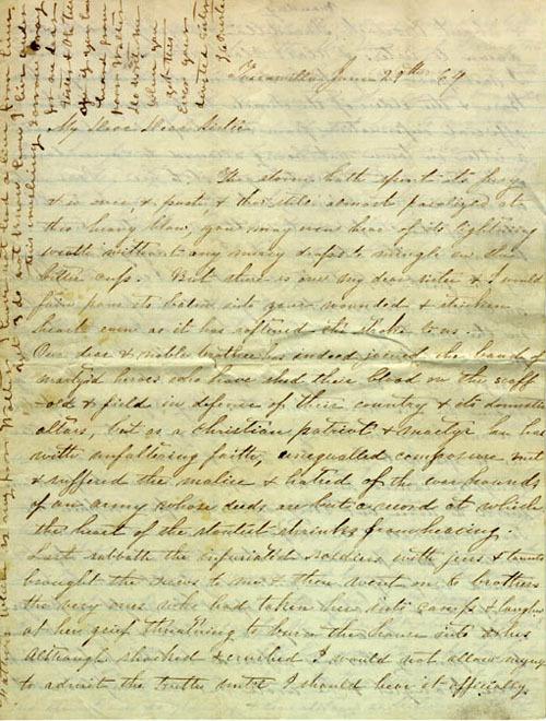 Mrs. J. C. Preston, letter, June 1864