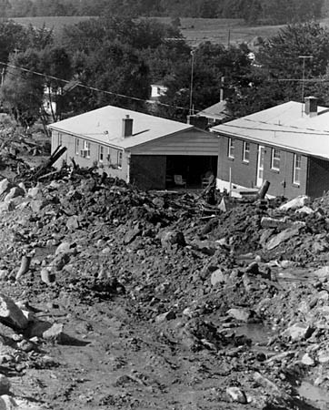 Flood Damage from Hurricane Camille. Photograph, September 1969