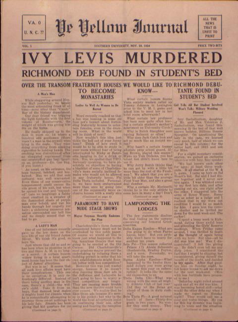 Yellow Journal. 1934 November 29.