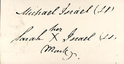 Michael and Sarah Israel marks