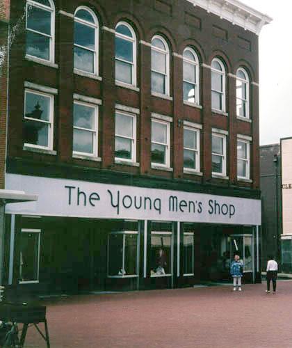 The Young Men's Shop, exterior
