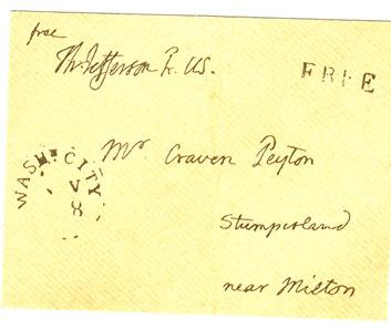 Facsimile Jefferson letter envelope