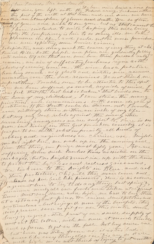 Katherine Couse, Letter, 4-20 May 1864.