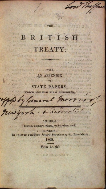 The British Treaty. With An Appendix Of State Papers