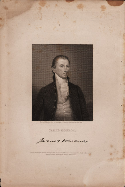 Engraving of James Monroe. 1835.