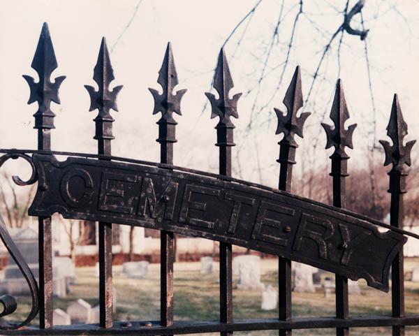 Hebrew Cemetery gates, right