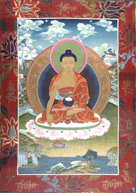 Scroll Painting (thang-ka) of Shakyamuni Buddha