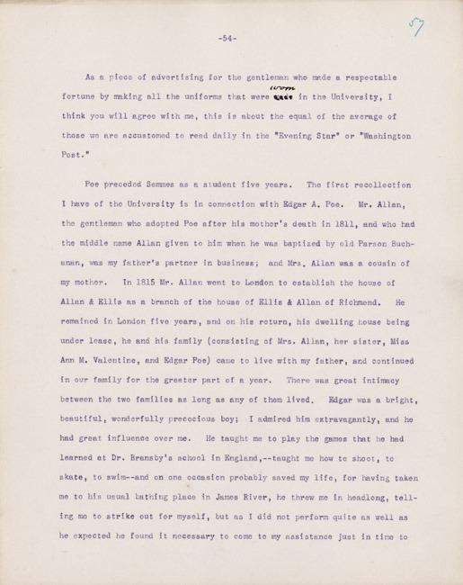 Address. Thomas H. Ellis. 1894.