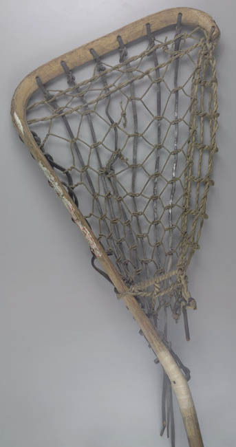 Goalie stick that helped win the 1972 NCAA Lacrosse Championship.