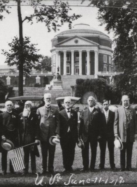 Detail, Holsinger's Studio, Photograph of University of Virginia Confederate alumni, 11 June 1912.