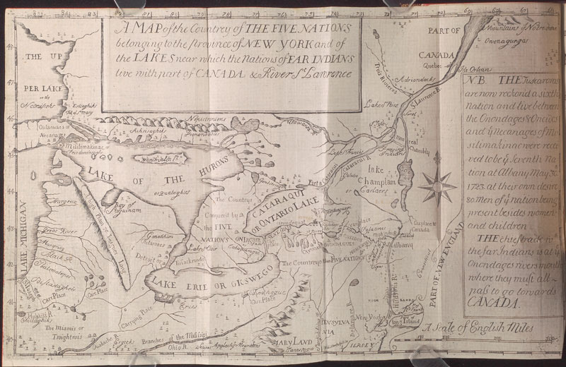 Cadwallader Colden, The history of the five Indian nations depending on the province of New-York in America, 1727.