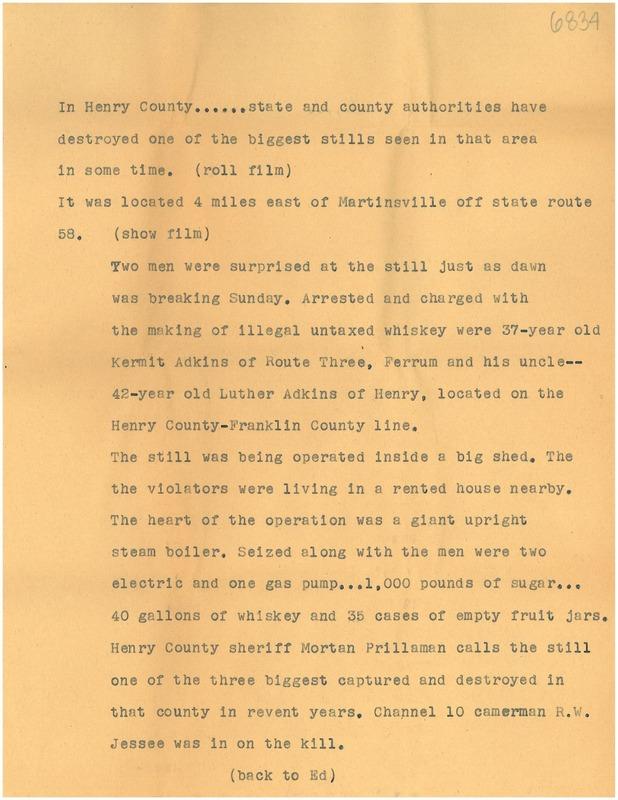 Officers Raid Distillery Script