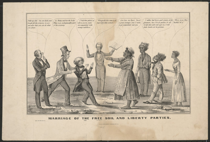 Marriage of the Free Soil and Liberty Parties, 1848.