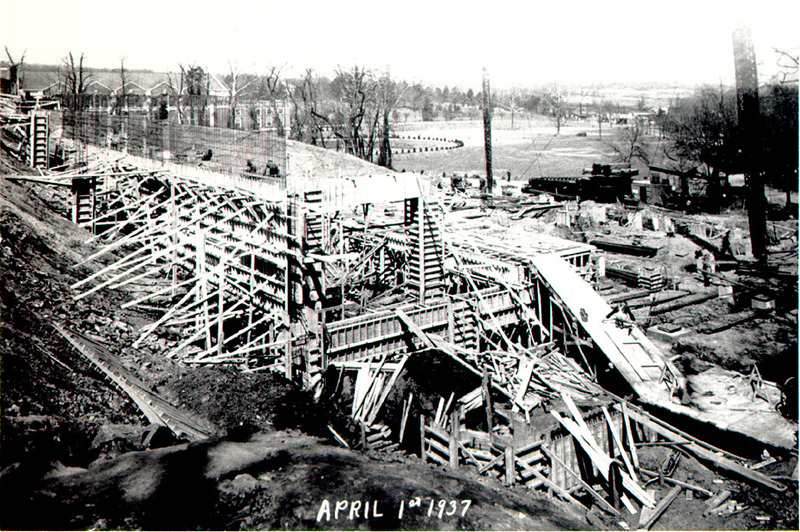 Construction in progress, April 1, 1937
