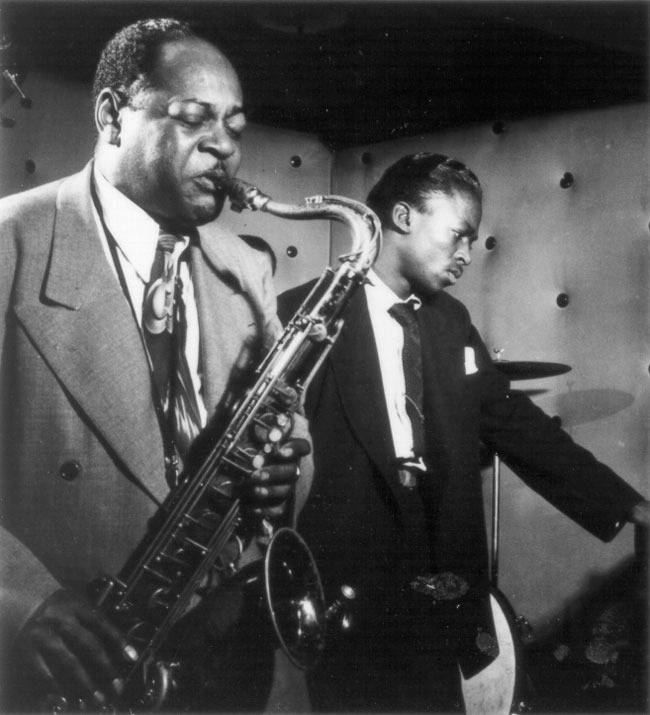 "Coleman ""Bean"" Hawkins and Miles Davis"