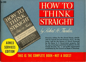 Robert H. Thouless, How to Think Straight