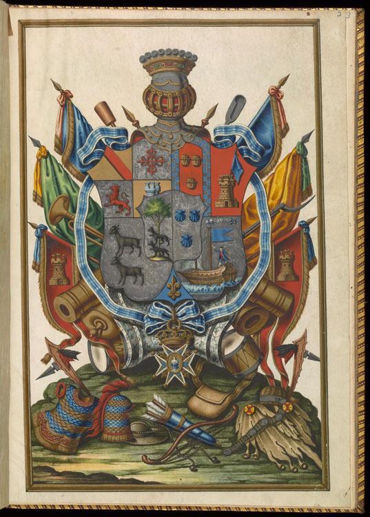 Charles III, King of Spain, Royal patent granted to Bernardo de Gálvez, 1783.