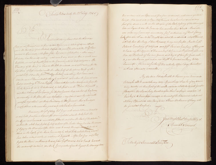 John St. Clair, Letterbook, 1755-1756.