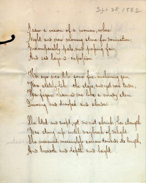 Untitled poem by unidentified poet, 1862