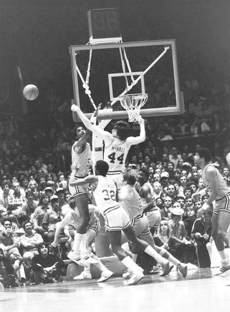 Photograph of Ralph Sampson and Kevin McHale. 1980 March 19.