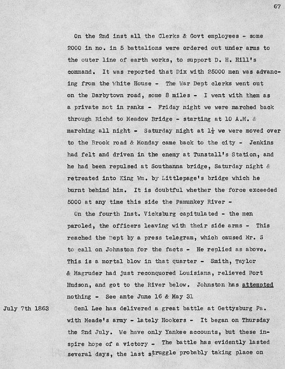 Robert Garlick Hill Kean. Diary. 1861-63.