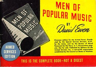 David Ewen. Men of Popular Music