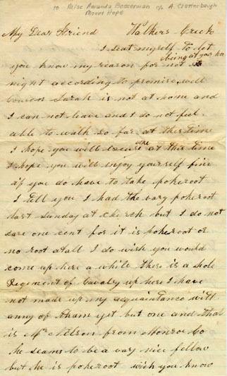 Letter from Mollie Lowerman
