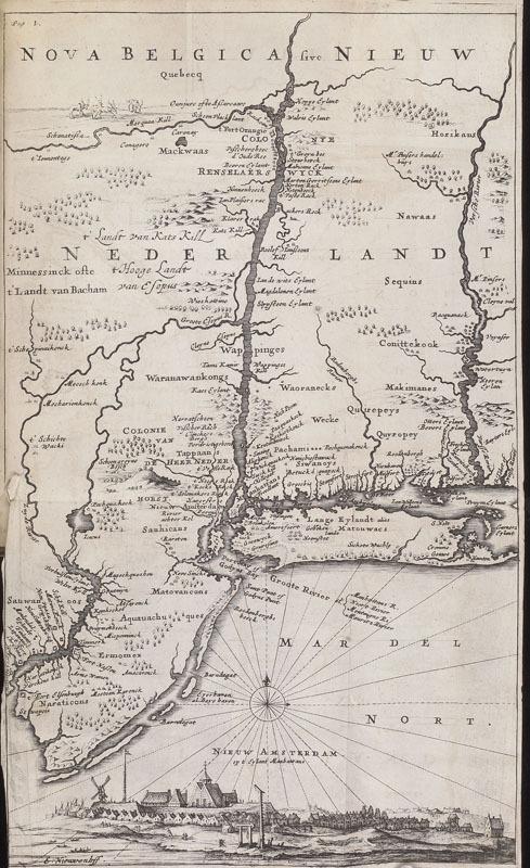 Adriaen van der Donck, Beschryvinge van Nieuw-Nederlant, 1656.