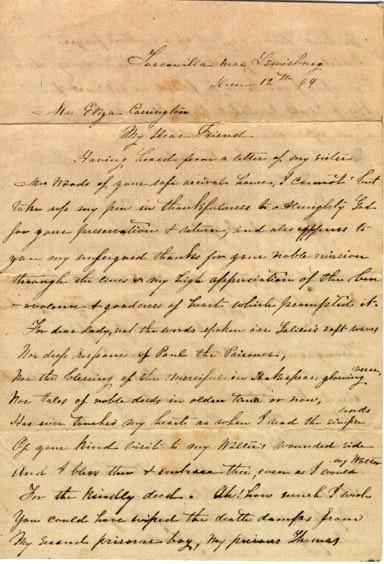 Mrs. J. C. Preston, letter, December 1864