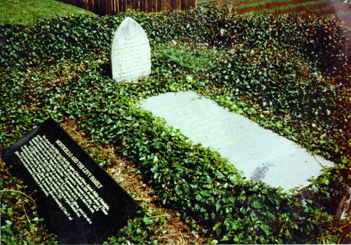 Grave of Rachel Levy, mother of Uriah P. Levy, on Monticello's Mulberry Row