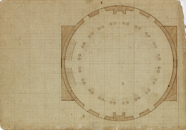 Plan for the Dome Room of the Rotunda, 1819