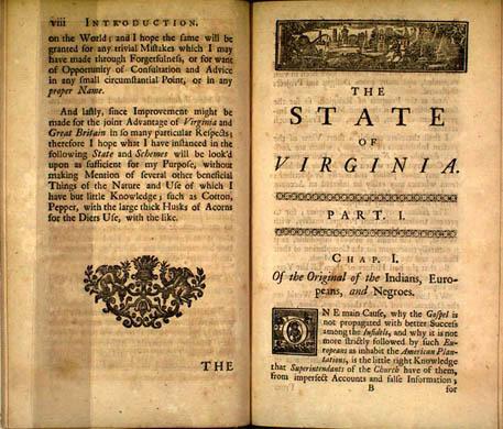 Hugh Jones. The Present State of Virginia