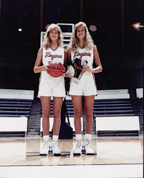 Photograph of Heidi and Heather Burge. 1991.