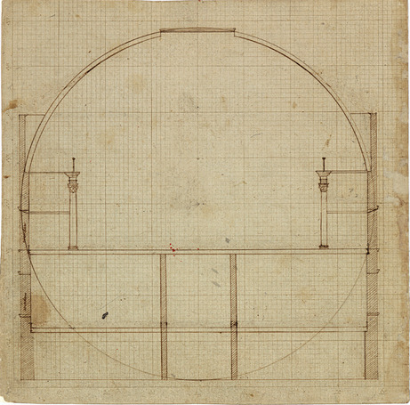 Section of the Rotunda, 1819&lt;br /&gt;<br />