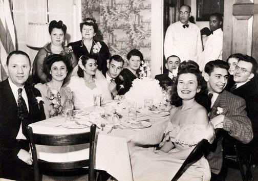 Wedding of Joshua Robinson and Estelle Good at Hillel House, Dec. 22, 1946