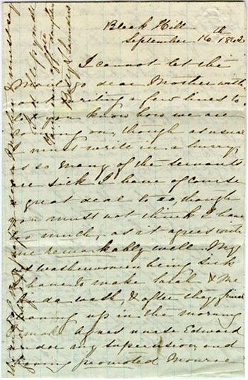 Saunders letter, 1862
