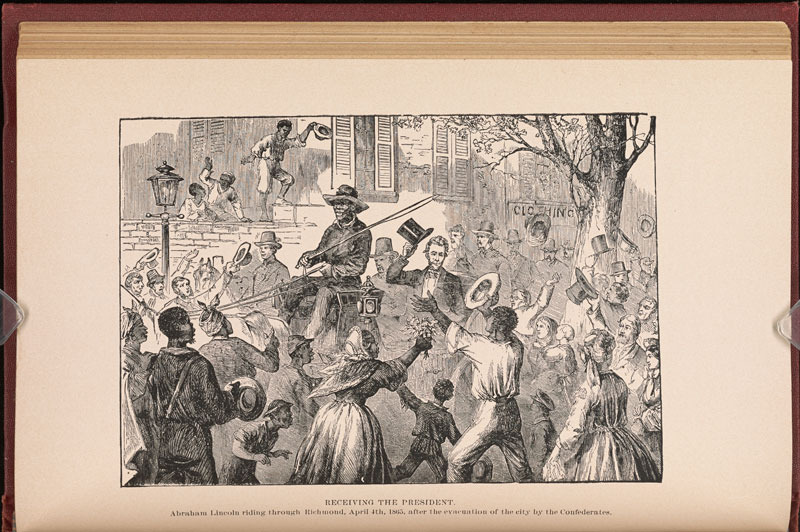 """Receiving the President,"" from Joseph T. Wilson, The Black Phalanx. Hartford: American Publishing Co., 1888."