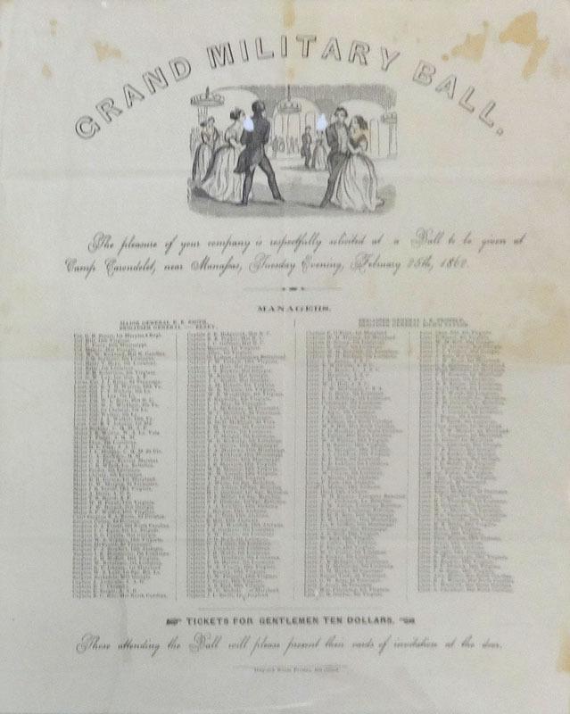 Grand military ball. Richmond, Va.: Dispatch Steam Press, [1862]