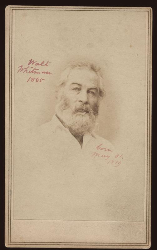 Portrait of Walt Whitman, June 29, 1865