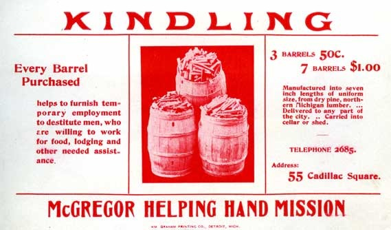 McGregor Mission kindling wood advertisement, ca. 1900-1910.
