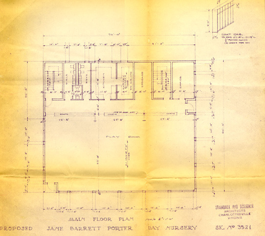 Barrett Daycare Center. Architectural drawing