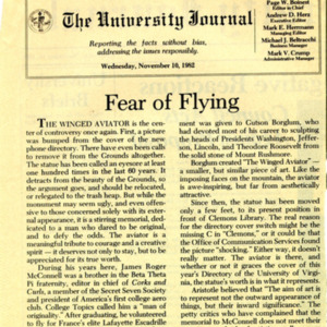 McConnell documents. University Journal. November 10, 1982