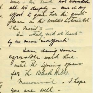 McConnell letters. February 5, 1927. Borglum to Alderman, p.4