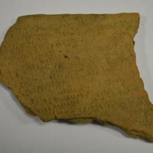 Virginia Indian fabric impressed ceramic