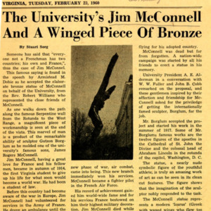 McConnell documents. Cavalier Daily. February 23, 1960