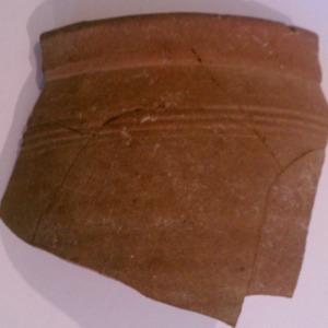 Butter pot, earthenware, England (Midlands), 1635-1645