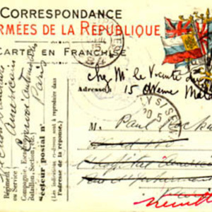 McConnell letters. April 23, 1915, Pont-à-Mousson. Postcard