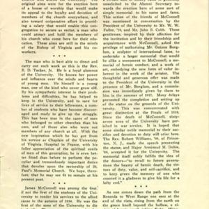 McConnell documents. University of Virginia Alumni News, July 1919, p.249