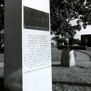 McConnell photographs. Memorial in Carthage, N.C.<br /><br />